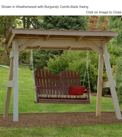 vinyl porch swing outdoor poly furniture amish vaf920 vinyl swing a frame