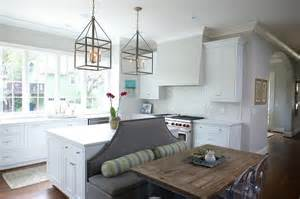 kitchen islands as banquettes
