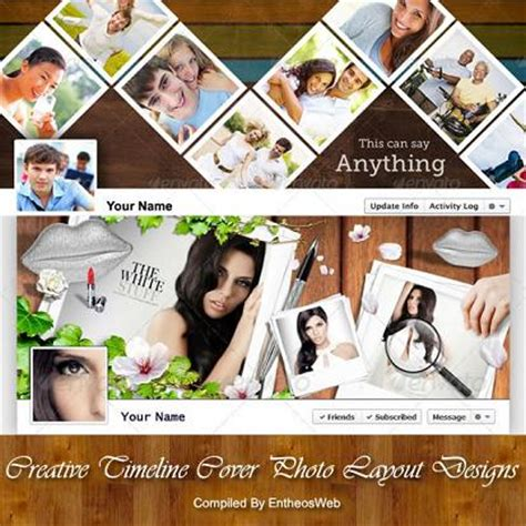 cover photo collage template aspects of sci tech wonders nature creative timeline