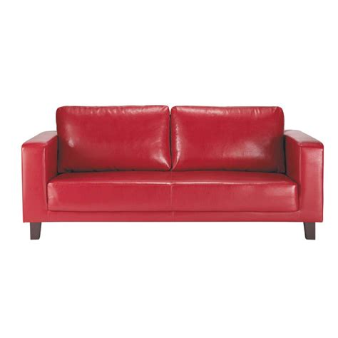 red 3 seater sofa 3 seater sofa in red nikeo maisons du monde