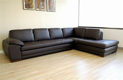Leather Chaise Sectional Sofa Brown Tufted Leather Right Facing Chaise Modern Sectional Sofa