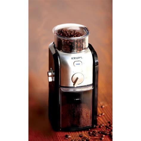 Krups Coffee Grinder krups flat burr coffee grinder gvx212 the home depot