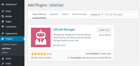 wordpress design editor plugin wp job manager how to easily display job listings on your