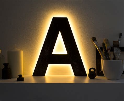 light letters led ls letter lights light up initials led home decor