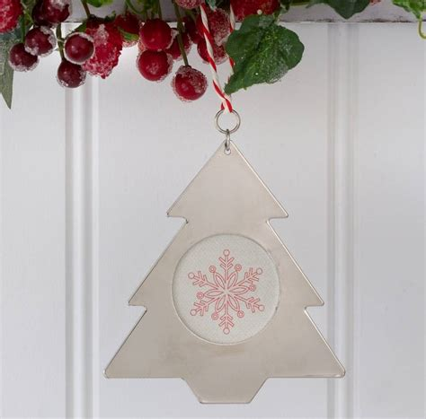 hanging christmas tree photo frame by ella james