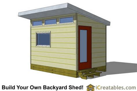 Studio Shed Plans by 8x12 Modern Shed Plans 8x12 Office Shed Plans Studio