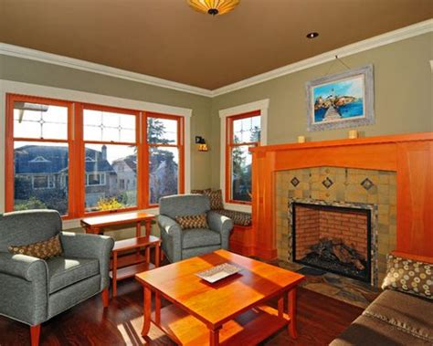 interior color palettes for arts crafts homes arts arts and crafts fireplace houzz