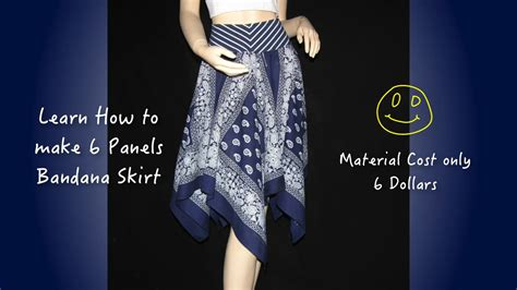 how to make a bandana how to make skirt quot 6 panels bandana skirt quot 21