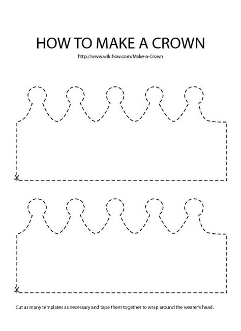 How To Make A Paper Princess Tiara - crown template