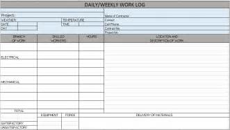 project journal template free construction project management templates in excel