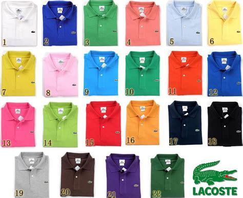 what color is my shirt lacoste polo shirts a color for every occasion my
