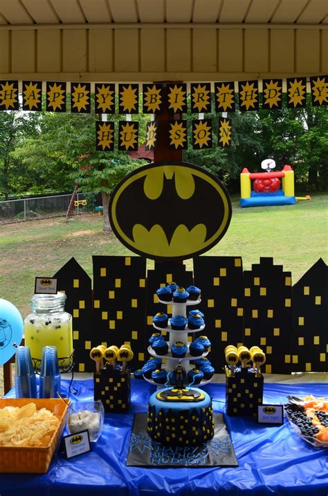 themed decorations southern blue celebrations batman ideas