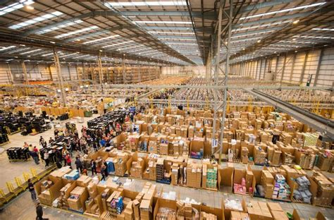 amazon warehouse these photos show how insanely busy amazon warehouses are