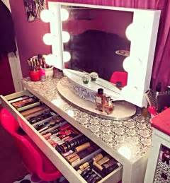 Makeup Desk Goals Vanity Table With Makeup Foundation Power Makeup Brushes
