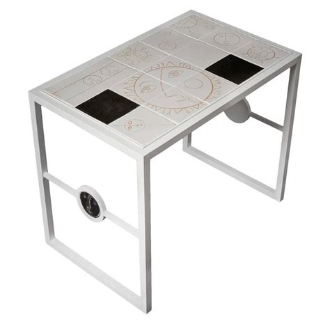 White Ceramic Table L by White Ceramic And Metal Coffee Table By Dalo 2015 For Sale At 1stdibs