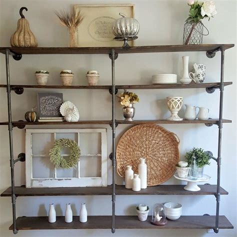 Farmhouse Home Plans by Diy Industrial Pipe Shelves Step By Step Tutorial On