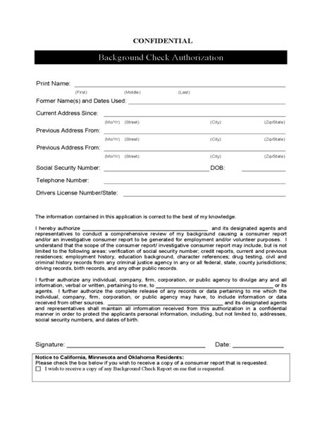 Criminal Record Check Application 28 Rental Background Check Form California Sle Tenant Application Sle