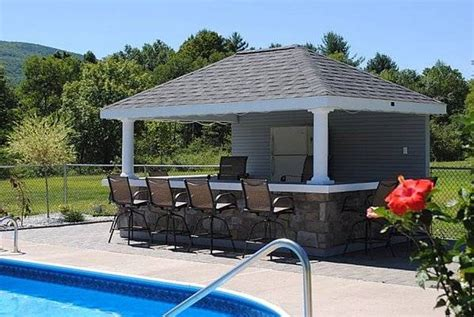 backyard pool house designs bar with outside
