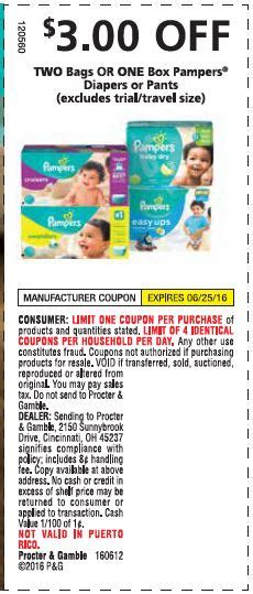 Printable Diaper Coupons | pampers printable coupons and a great high value coupon 3