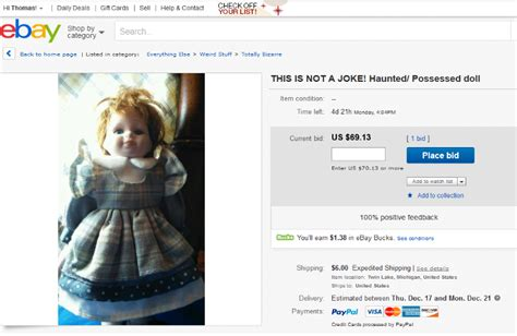 haunted dolls ebay haunted doll for sale the crypto crew