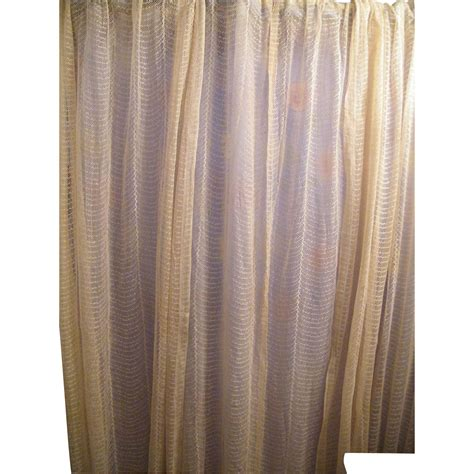 ivory lace curtains early 20th century lace curtains drapes set of 3 panels