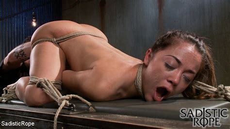 Ponytailed Hogtied Girl With A Gag Ball Tor Xxx Dessert Picture