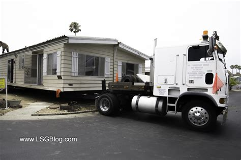 moving a modular home moving half the mobile home from