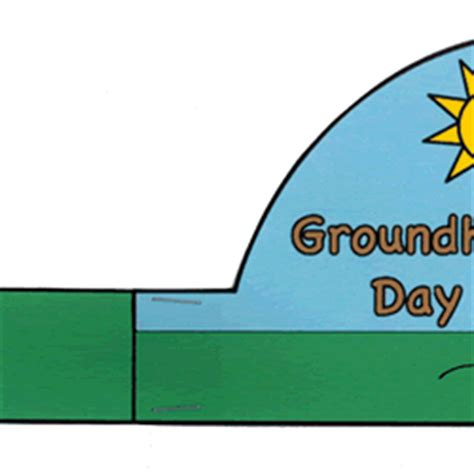 groundhog day that step groundhog day hat paper craft