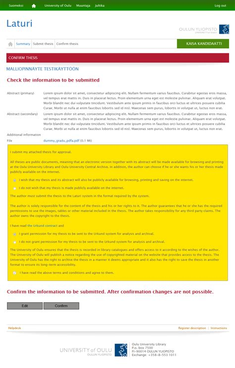 academic dissertation academic dissertation of oulo