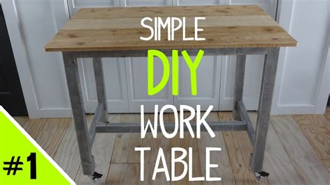 build a simple desk build a simple diy work table frame 1 of 2 youtube