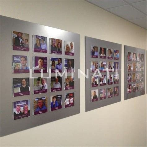 modern photo display 22 best images about photo boards staff wall boards