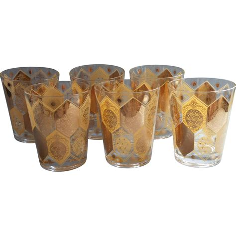 vintage barware vintage barware double old fashioned glasses gold