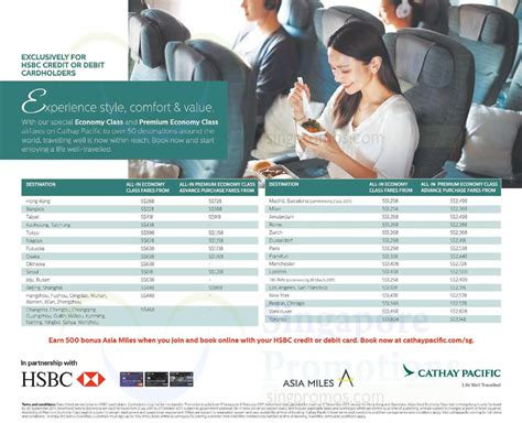 agoda hsbc promo cathay pacific promo fares fr 228 all in return for hsbc