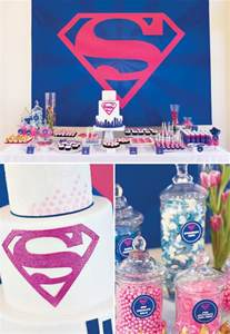 Princess House Vases Fantastic Pink Amp Blue Supergirl Birthday Party Hostess