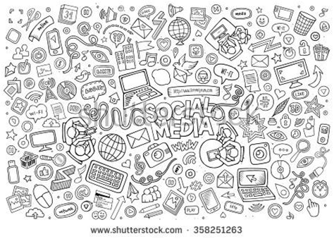 free vector doodle line social media stock images royalty free images vectors