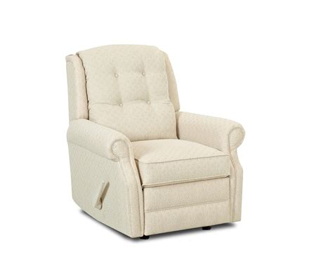 transitional manual swivel rocking reclining chair  button tufting  klaussner wolf furniture