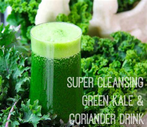 Coriander Detox Drink by Cleansing Green Kale Coriander Drink The Veggie