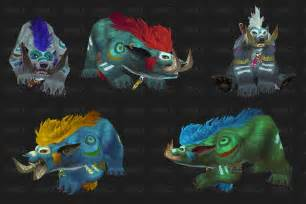 druid colors feraltree troll and worgen druid forms
