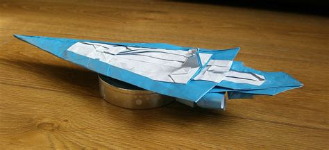 Origami Destroyer - wars origami episode i vehicles and vessels