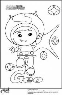 Team Umizoomi Coloring Pages Geo Colouring