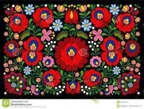 Authentic Hungarian Pattern Royalty Free Stock Image