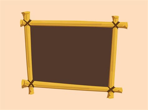 wood frame design vector wooden frame vector art graphics freevector com