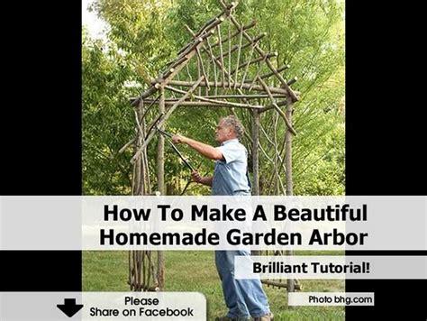 how to make a beautiful homemade garden arbor