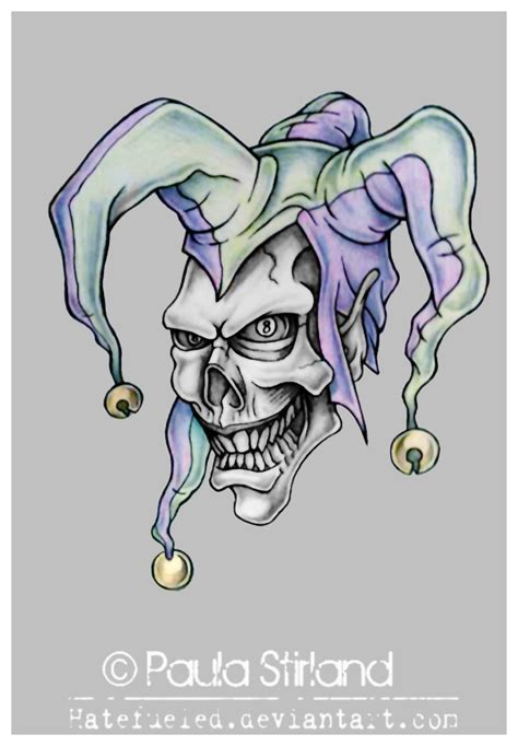 evil jester tattoo designs the gallery for gt evil joker drawings