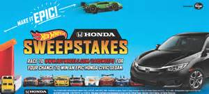 Win a 2016 Honda Civic LXCVT vehicle on Hot Wheels   Honda