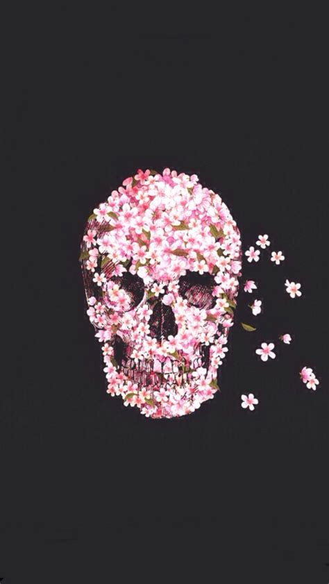 iphone wallpaper girly skull pink skull wallpaper image 1317358 by korshun on