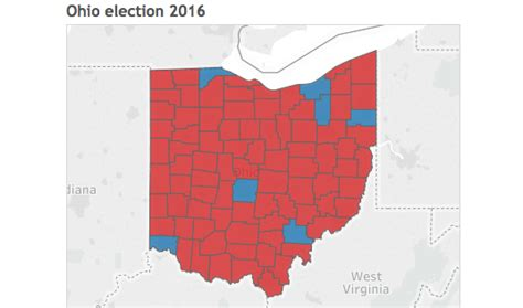 2016 Presidential Election Also Search For Mapping The Ohio Presidential Election Results By County Cleveland