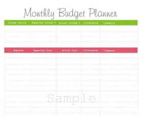 Printable Monthly Budget Planner Template Items Similar To Monthly Budget Planner Pdf Printable On