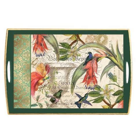 Decoupage Tray - enchanted garden decoupage wooden tray