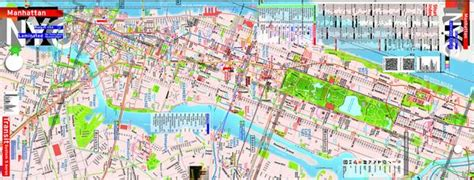 nyc five boro map by vandam laminated pocket city map w attractions in all 5 boros of ny city manhattan the bronx st island w new subway map 2017 edition streetsmart books 0027 maps new york q b j front 9 x 24 20120910 no prices 1